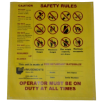 Safety Rules Sign